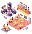 food court design concept vector image vector image