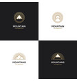 four mountain logo in golden color vector image vector image