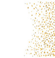 gold star confetti celebration isolated on white vector image vector image