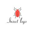 graphics icon red beetle isolated vector image vector image