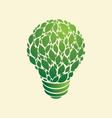 Green Light Bulb vector image