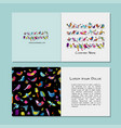 greeting cards design funny birds background vector image vector image