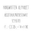 hand drawn ink alphabet vector image