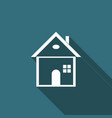 house icon isolated with long shadow home symbol vector image