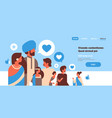 indian people group bubble chat social media icons vector image
