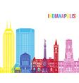 Indianapolis skyline pop vector image vector image