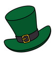 irish elf hat isolated icon vector image