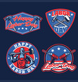 labor day badges vector image