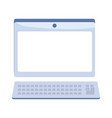 laptop computer device technology keyboard vector image