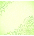 Light green ornate flowers background vector image vector image