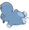 Little hippopotamus Cartoon vector image