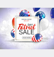 memorial day sale promotion advertising banner vector image
