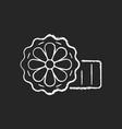 mooncakes chalk white icon on black background vector image