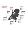netherlands map infographics vector image vector image