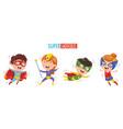of superheroes vector image