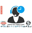 Operator Time Flat Icon With 2017 Bonus Trend vector image vector image