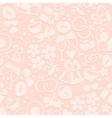 Pale romantic seamless pattern vector image