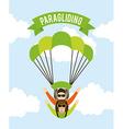 paragliding vector image vector image