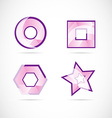 Pink logo set icon element vector image vector image