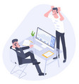 professional work conflict vector image vector image