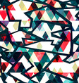retro triangle seamless pattern grunge effect vector image vector image