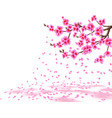 sakura a lush cherry branch with purple flowers vector image vector image