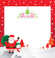 Santa Snowman Border vector image vector image
