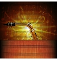 Saxophone Close-up on the shining sheet music vector image vector image