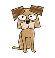 scribble funny doggy cartoon vector image vector image