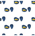 seamless pattern flat mussels vector image vector image