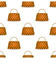 Seamless Womens Orange Handbags vector image