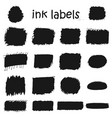 set black stickers and labels drawn ink vector image