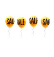set yellow balloons with word sale symbol vector image