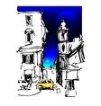 sketch drawing of Rome Italy landscape with two vector image vector image