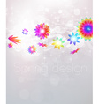 spring floral design vector image vector image