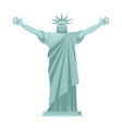 statue of liberty is cheerful happy landmark vector image vector image