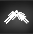 teamwork to success male and female with one head vector image