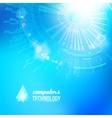 technological background blue cogwheel vector image