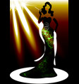 template shop logo fashion woman silhouette diva vector image