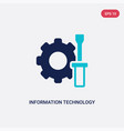 two color information technology icon from vector image vector image