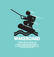 Wakeboard Player Symbol vector image