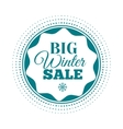 Winter sale label Badge Logotype of winter sale vector image