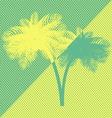 Yellow green palm tree vector image