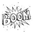 sketch of a comic explosion vector image