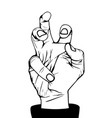 angry hand vector image