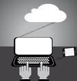 Flat design internet cloud mobile vector image