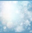 holidays lights on blue background bokeh effect vector image