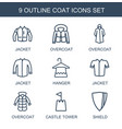 9 coat icons vector image vector image