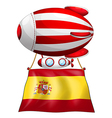 A floating balloon with the flag of Spain vector image vector image