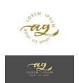 a g initials monogram logo design dry brush vector image vector image